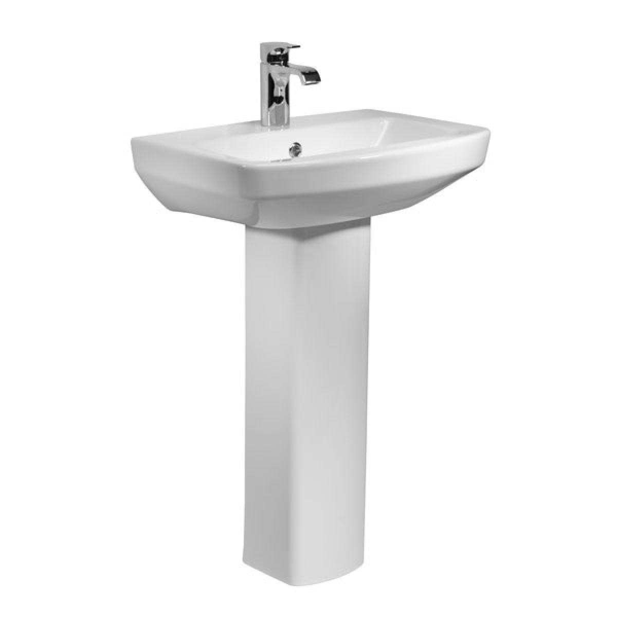 Tavistock Vibe 1 Tap Hole Basin and Pedestal 550mm