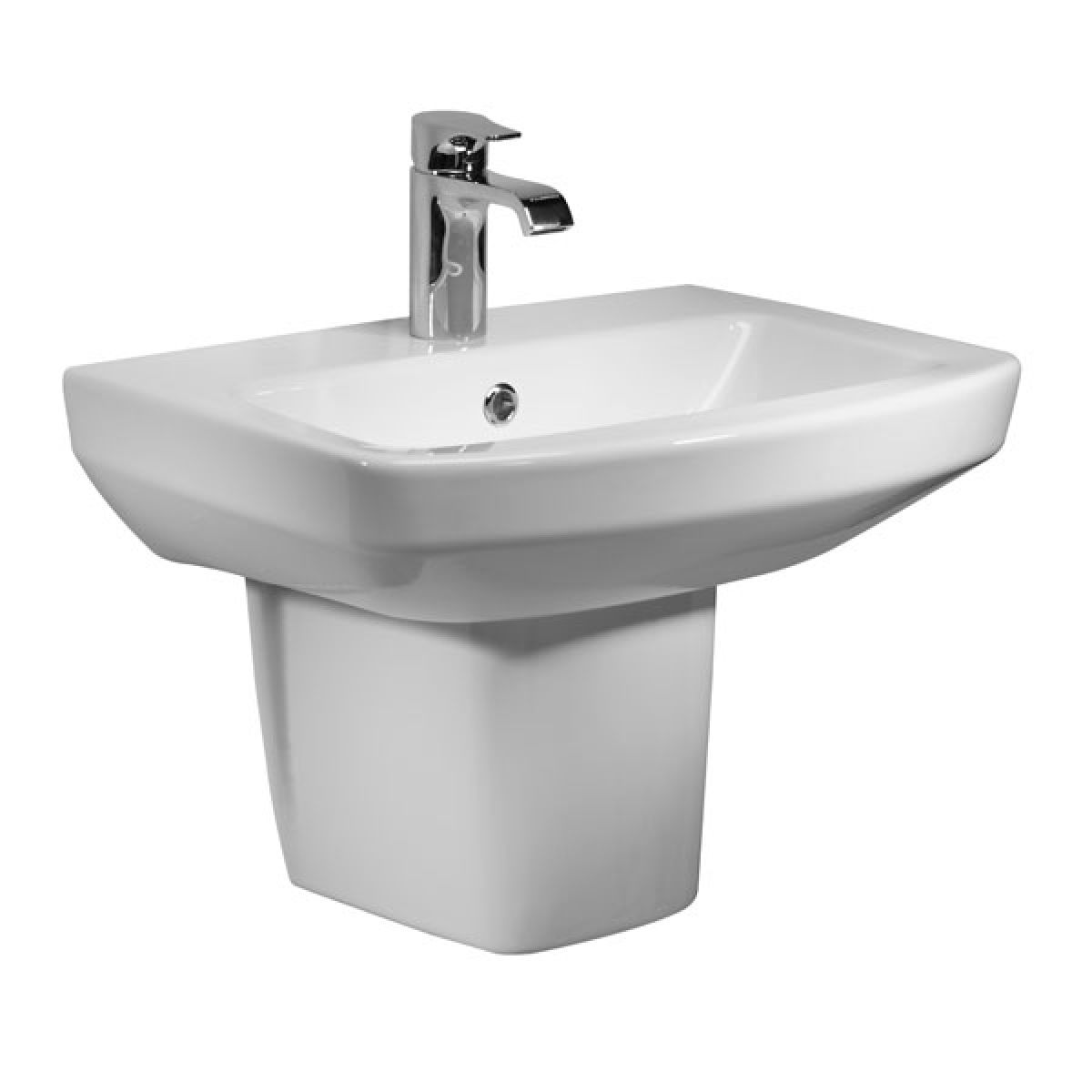 Tavistock Vibe 1 Tap Hole Basin and Semi Pedestal 450mm