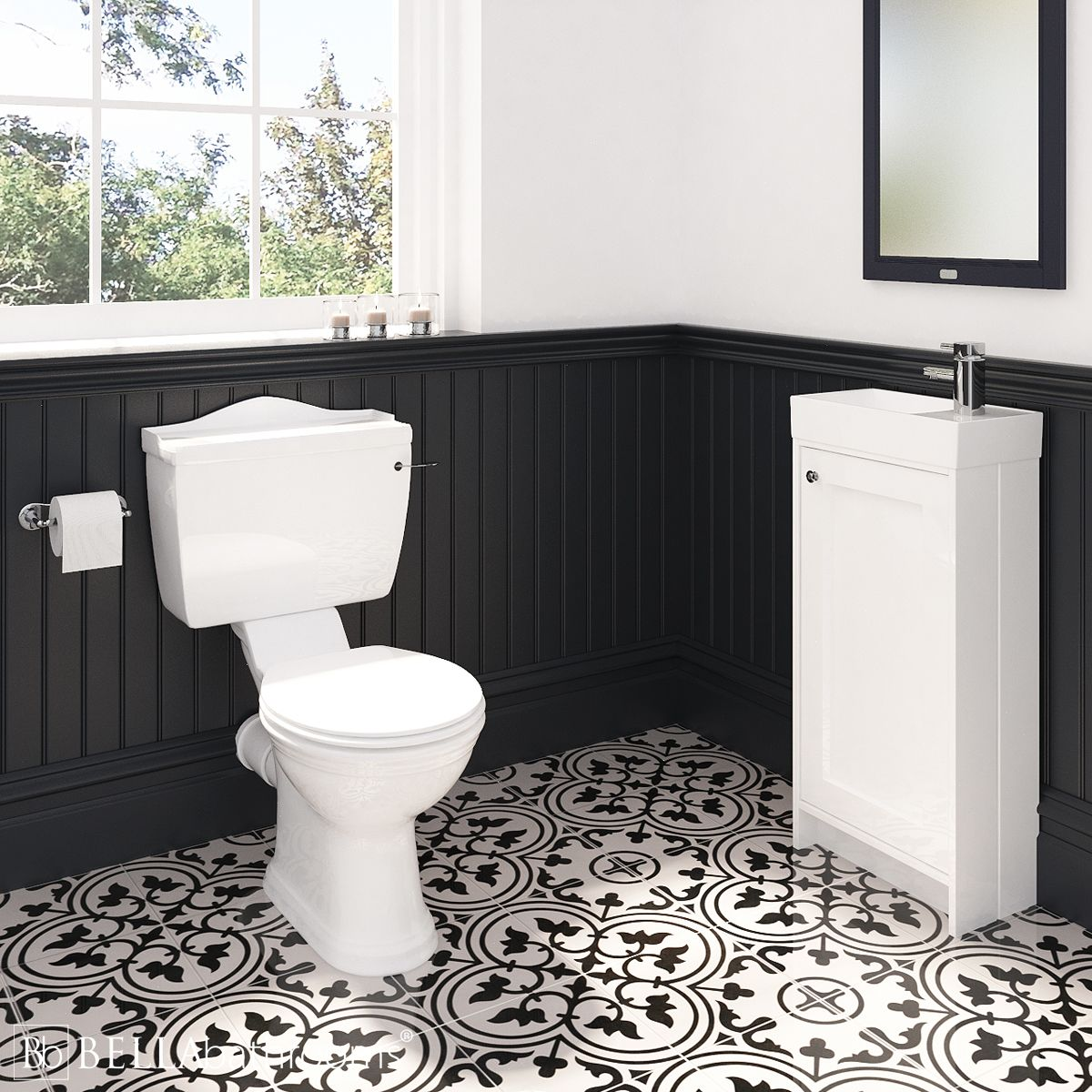 Traditional Vanity Unit and Chancery Toilet Cloakroom Suite