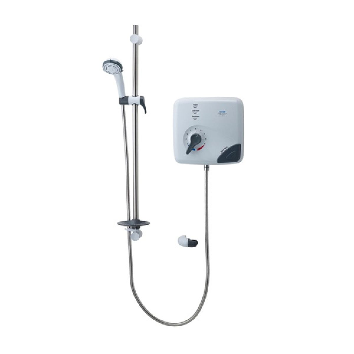 Triton Safeguard Pumped Care Thermostatic White and Chrome Electric Shower