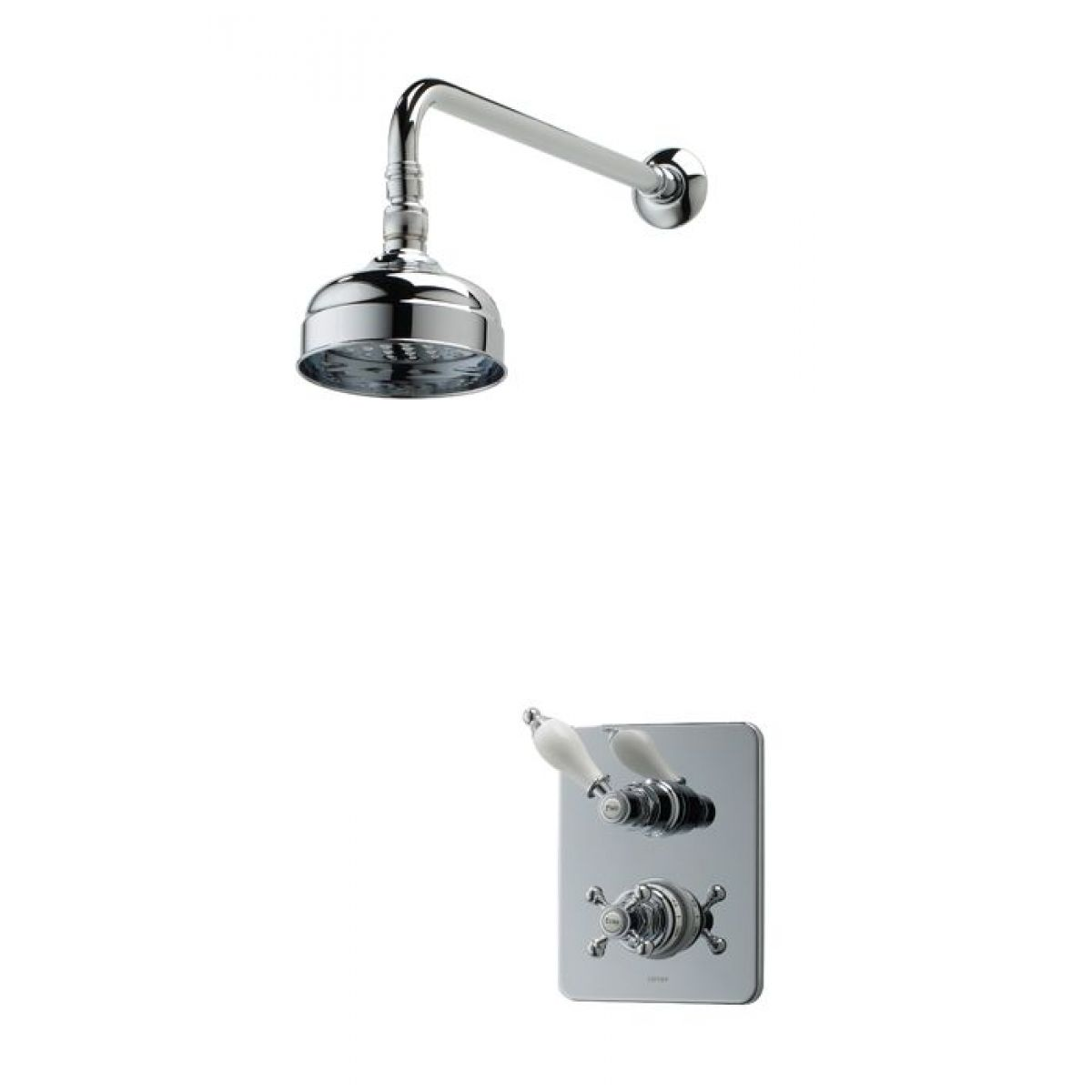 Triton Unichrome Avon Dual Built-in Shower Valve With Fixed Head