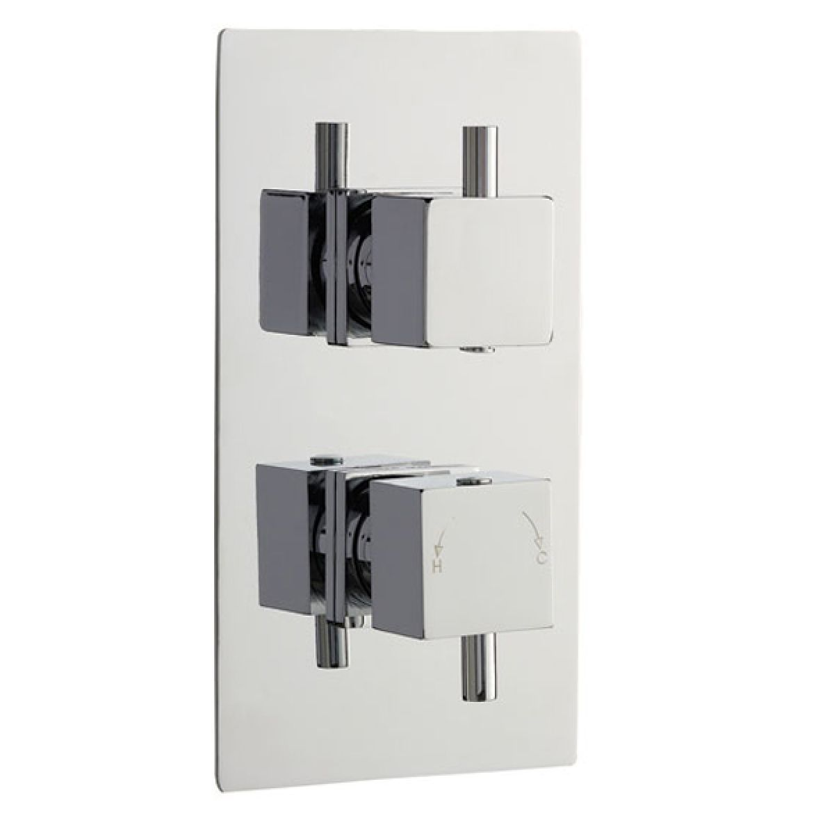 Twin Concealed Thermostatic Shower Valve with Diverter