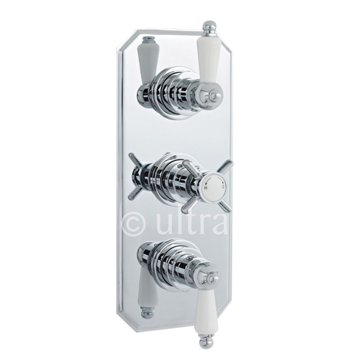 Ultra Traditional Concealed Thermostatic Triple Shower Valve