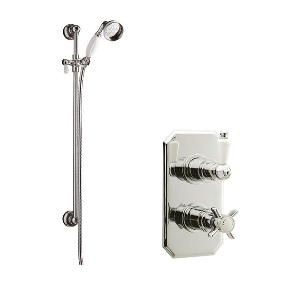 Ultra Beaumont Thermostatic Shower with Traditional Slide Rail Kit