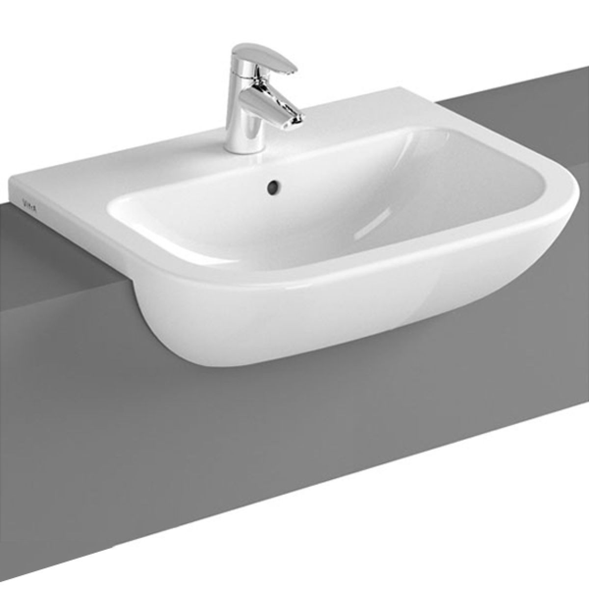 Vitra S20 Semi Countertop Basin 550mm