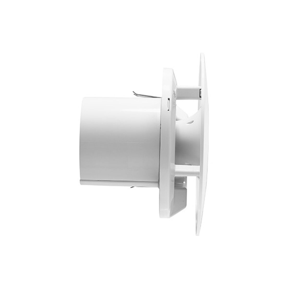 Xpelair Simply Silent Contour Round Bathroom Fan with Humidistat 100mm - Side