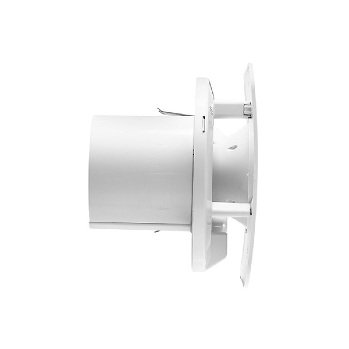 Xpelair Simply Silent Contour Square Bathroom Fan with Humidistat 100mm - Side