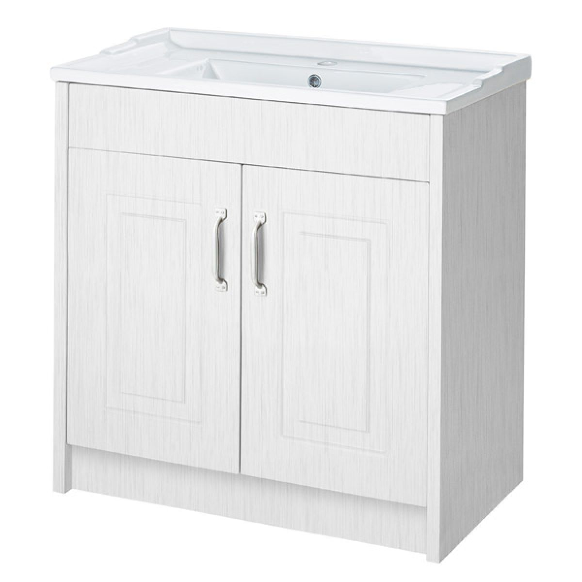 York Traditional White Ash Vanity Unit 800mm