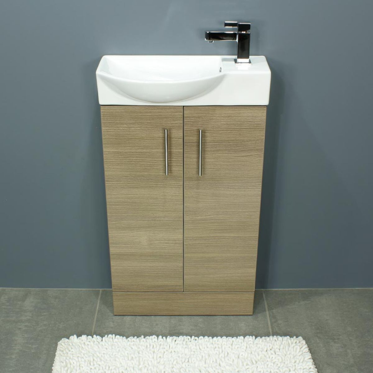 Cassellie 500 Series Mini Medium Oak Double Door Vanity Unit Front