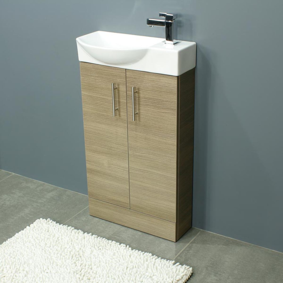 Cassellie 500 Series Mini Medium Oak Double Door Vanity Unit