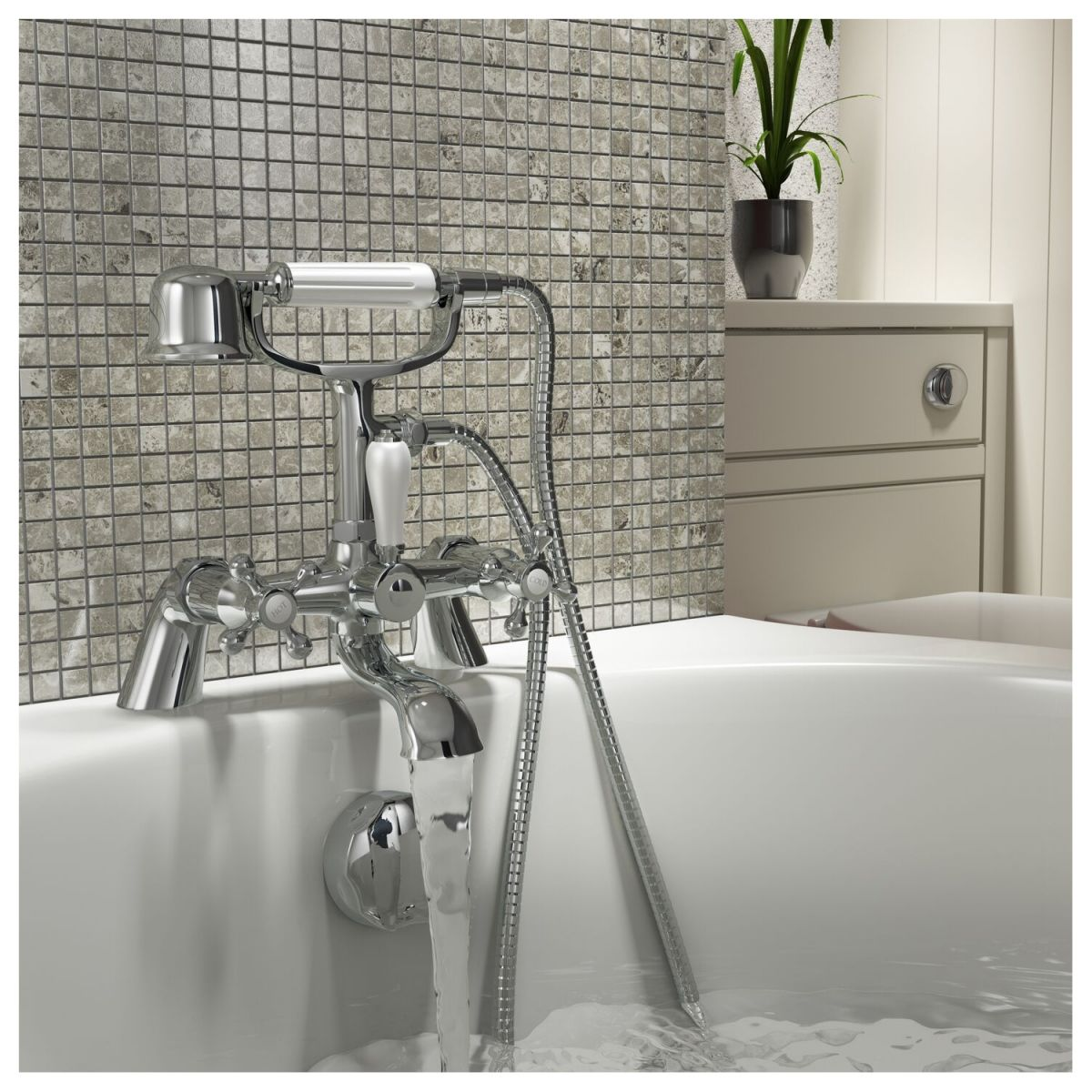 Zenith Cambridge Traditional Bath Shower Mixer Tap Lifestyle