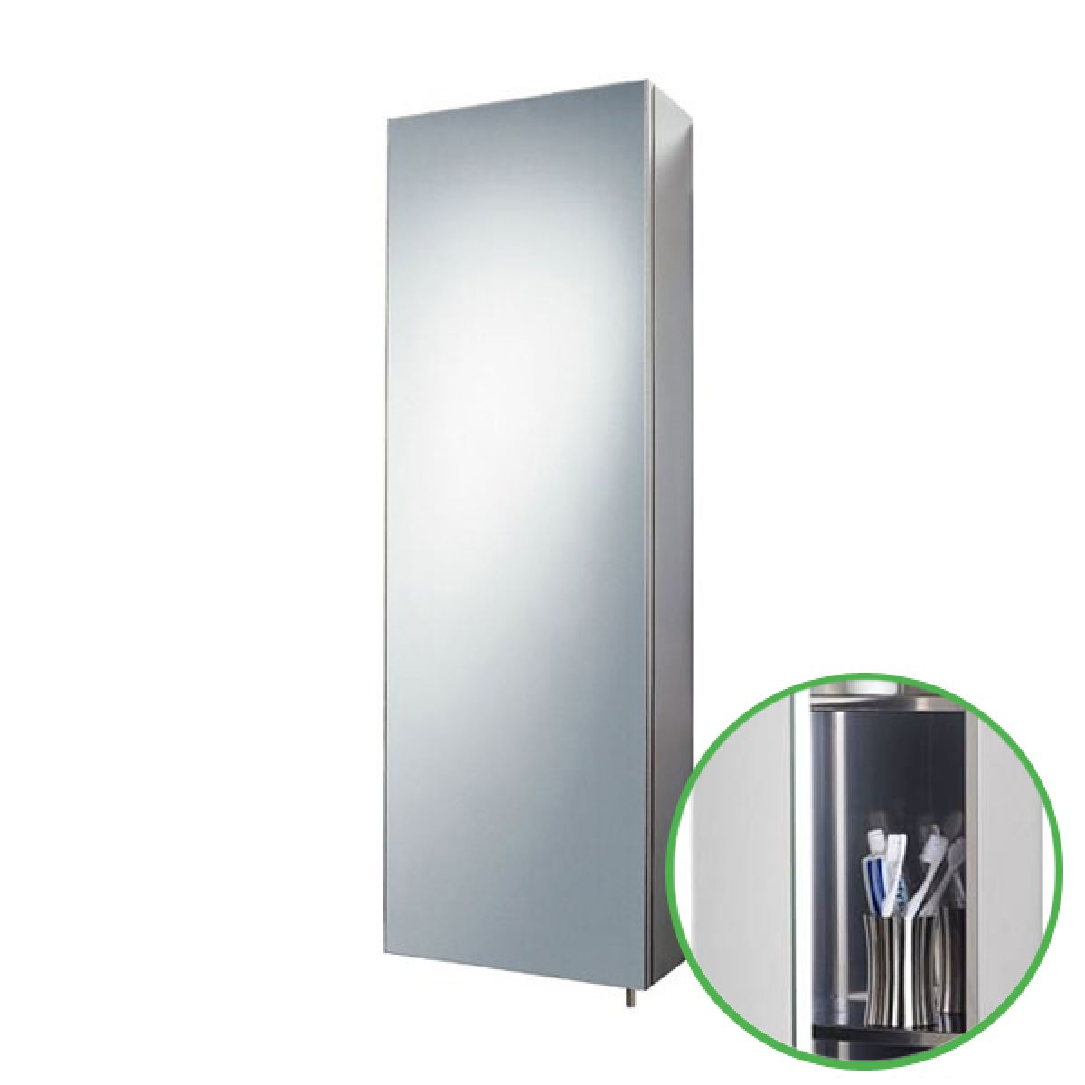 Zenith Stainless Steel Tall Bathroom Cabinet