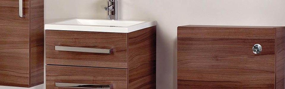 Frontline Aquatrend Walnut Bathroom Furniture