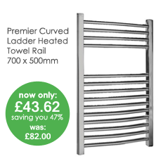 Heated Chrome Curved Ladder Towel Rail