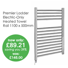 Electric-Only Chrome Heated Ladder Towel Rail