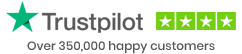 Over 350,000 happy customers - Trustpilot