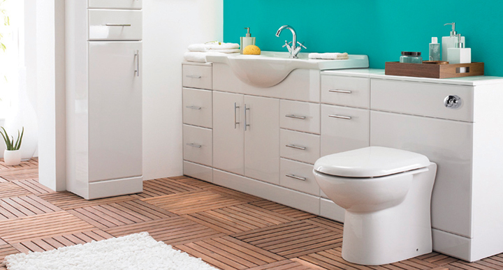 Excellent Home  Bathroom Suites  Ellis  Ellis Ikon Gloss White