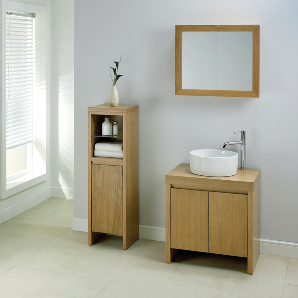 Part of the Mito Oak bathroom furniture collection