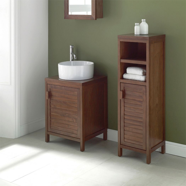 Part of the Mito Walnut bathroom furniture collection