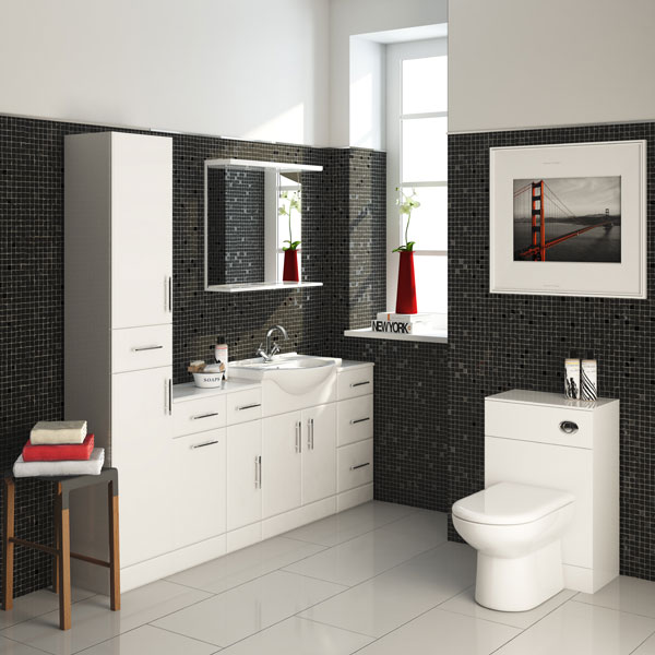 Part of the Premier High Gloss White bathroom furniture collection
