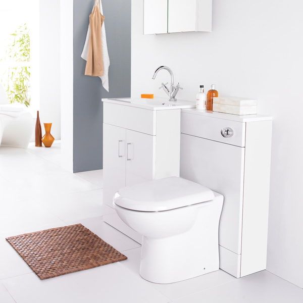 Part of the Premier White Minimalist bathroom furniture collection