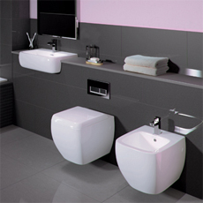 Part of the RAK Metropolitan bathroom suite collection