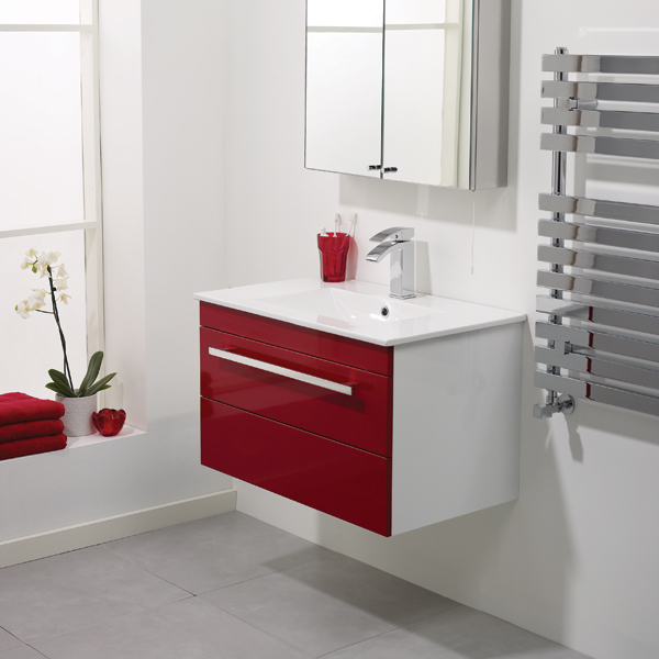 Perfect Modern Red Bathroom Furniture By Artesi  DigsDigs