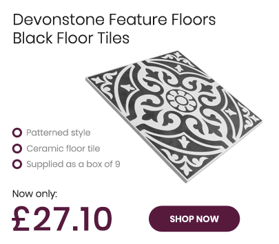 Devonstone Feature Floors Black Ceramic Floor Tile